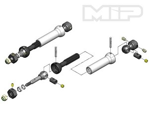 MIP X-Duty CVD™ Keyed Rear Axle Kit, Traxxas Nitro, Slash, Stampede, Rustler #11106 *Discontinued*