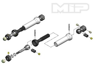 MIP X-Duty CVD™ Kit with Keyed Axles, Rear, Traxxas Stampede 4x4 VXL #11109 *Discontinued*