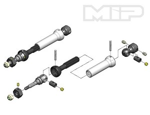MIP X-Duty CVD™ Kit with Keyed Axles, Front, Traxxas Stampede 4x4 VXL #11110 *Discontinued*