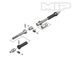 MIP X-Duty™ C-Drive Kit, All Vaterra Ascender, K105/K5/Ford Bronco, #16180 *Discontinued*