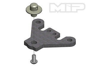 MIP - #18014 13.5 Pro4mance Chassis, Steering Brace/ Body Mount, Tekno EB410