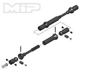 #18190 - MIP X-Duty™, Center Drive Kit, 120mm to 145mm w/ 5mm Hubs, Axial SMT10 Monster Trucks