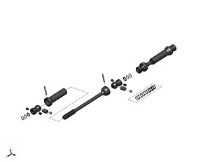 "MIP X-Duty™, Center Drive 12.3"" W.B., Axial SCX10 II Kit (AX90046) #18325"